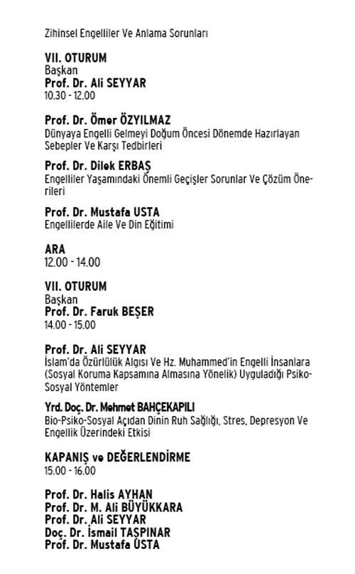 """di 03 - """"Din, Felsefe ve Bilim Işığında Engelli Olmak ve Sorunları Sempozyumu"""" 5-6 Nisan 2012"""